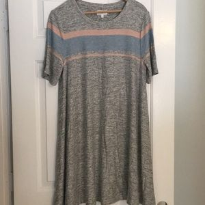Lou & Grey Gray Knit Swing Dress Size L